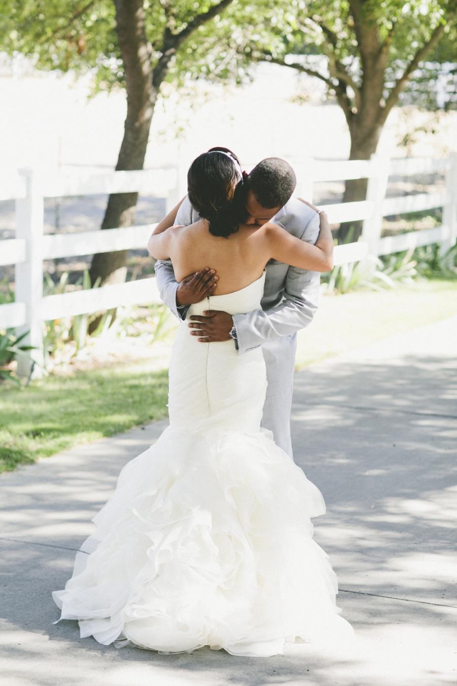 Real Wedding: Beautiful Bride Wearing Ruffled Mermaid ...