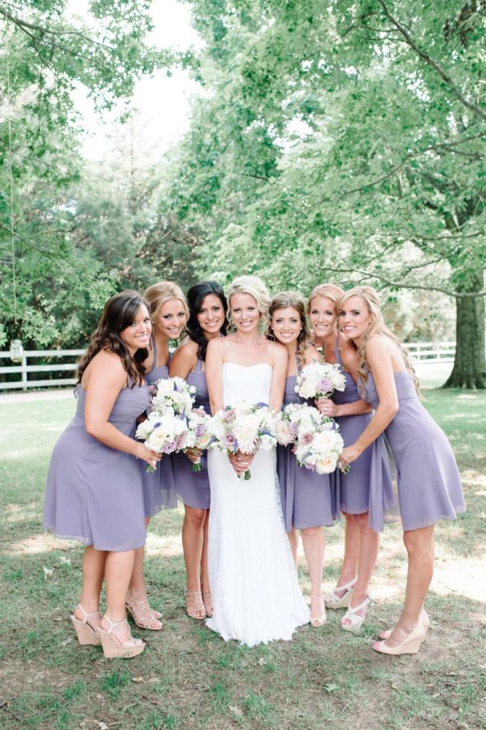 lilac bridesmaid and groom - 750×1119