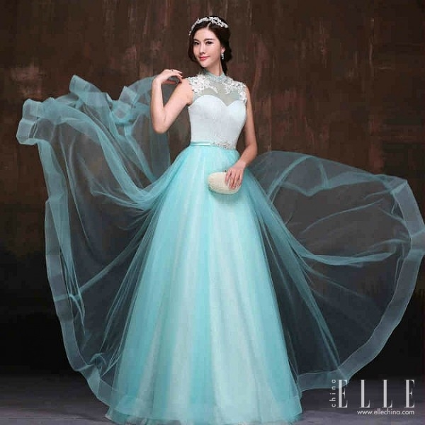 sky blue wedding dress « pretty chic lady world