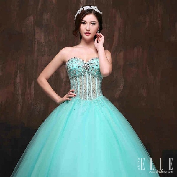 Blue Wedding Gowns 2014: Sky Blue Wedding Dress « Pretty Chic Lady World
