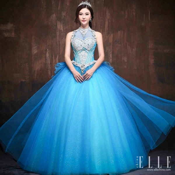 blue fashion wedding gowns « pretty chic lady world