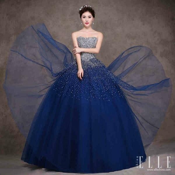 Blue Wedding Dresses Pretty Chic Lady World
